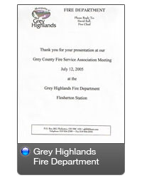 Grey Highlands Fire Dept.